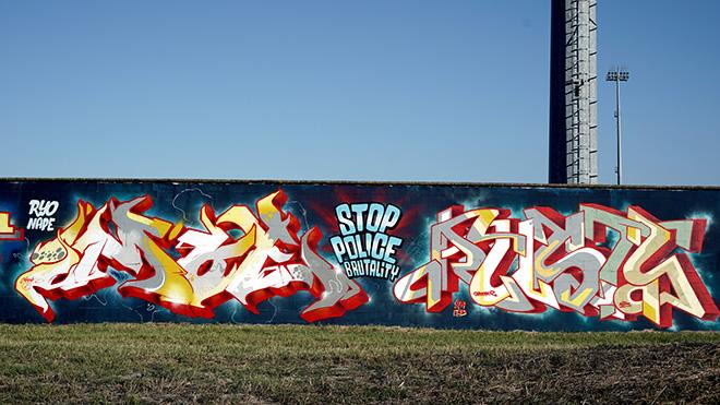 Moe, Rusty - Murale per Manufactory Project, Comacchio, 2020