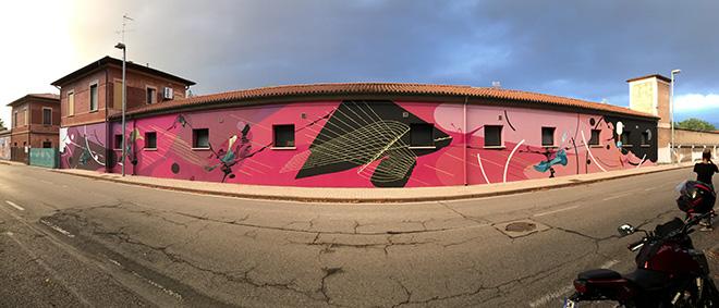 Corn79 - Murale quartiere Te Brunetti (Ingresso Quartiere), Mantova
