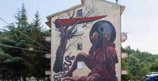 Nicola Alessandrini - Povr M'nocidd, AppARTEngo, murale a Stigliano (MT), Italy