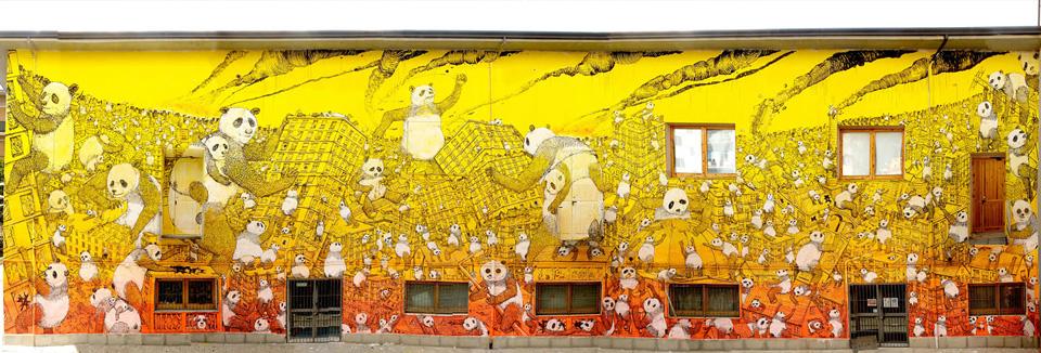 Blu - La Pandemia, murale a Campobasso