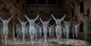 Gonzalo Borondo - N̶O̶N̶ PLUS ULTRA, installazione nel Cortile di Palacio de la Salina a Salamanca (Spagna) per il Facyl Festival. photo credit: ©Roberto Conte
