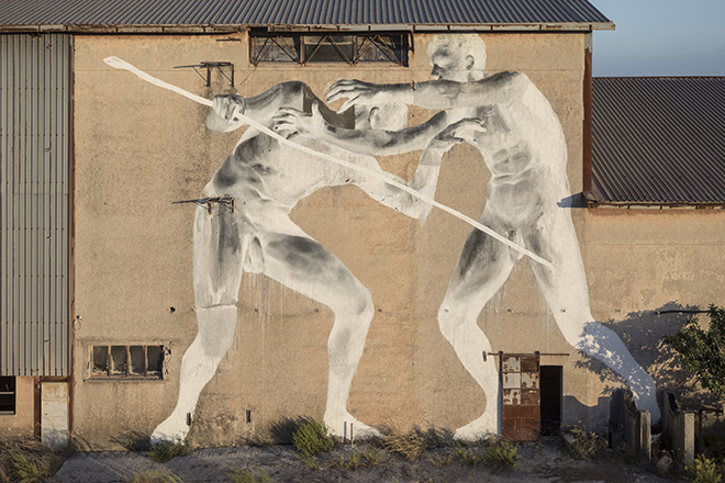 Bosoletti - (Polemos), murale per Bitume - Industrial Platform of Arts, Ragusa