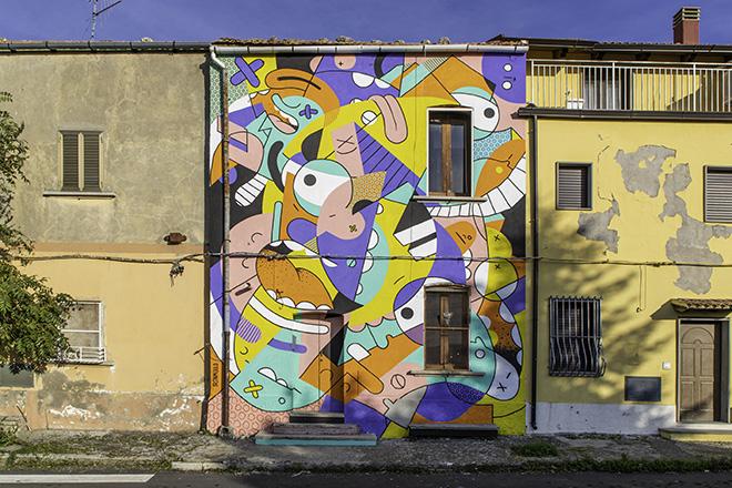 Ironmould - Little world, AppARTEngo, murale a Stigliano (MT), Italy