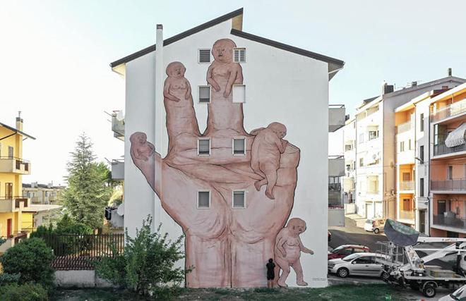 NemO's - Nessuno, AppARTEngo, murale a Stigliano (MT), Italy