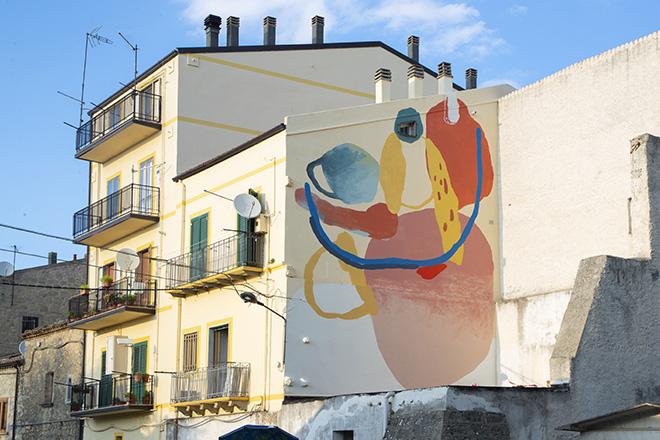 Nulo - Abstract, AppARTEngo, murale a Stigliano (MT), Italy