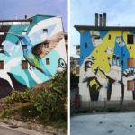 A. Perrotta + R. Buonafede – Operazione street art a Vietri di Potenza