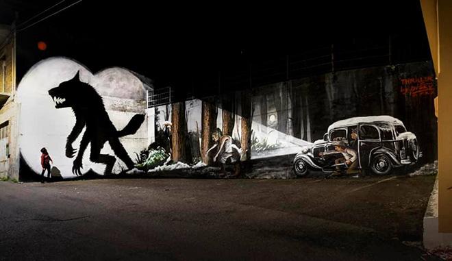 Piskv - Thriller 2020, AppARTEngo, murale a Stigliano (MT), Italy