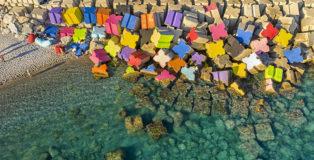 Massimo Sirelli - Catanzaro ColorFul, land art site specific, porto di Catanzaro Lido