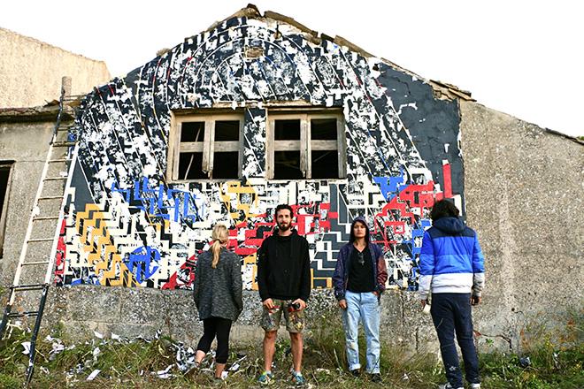 Moneyless, Martina Merlini, Sten Lex - (Triscele), murale per Bitume - Industrial Platform of Arts, Ragusa