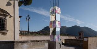 Alberonero - PILA, installazione a Rieti per TraMe-Tracce di Memoria, 2020. Foto: Gianluca Gasbarri
