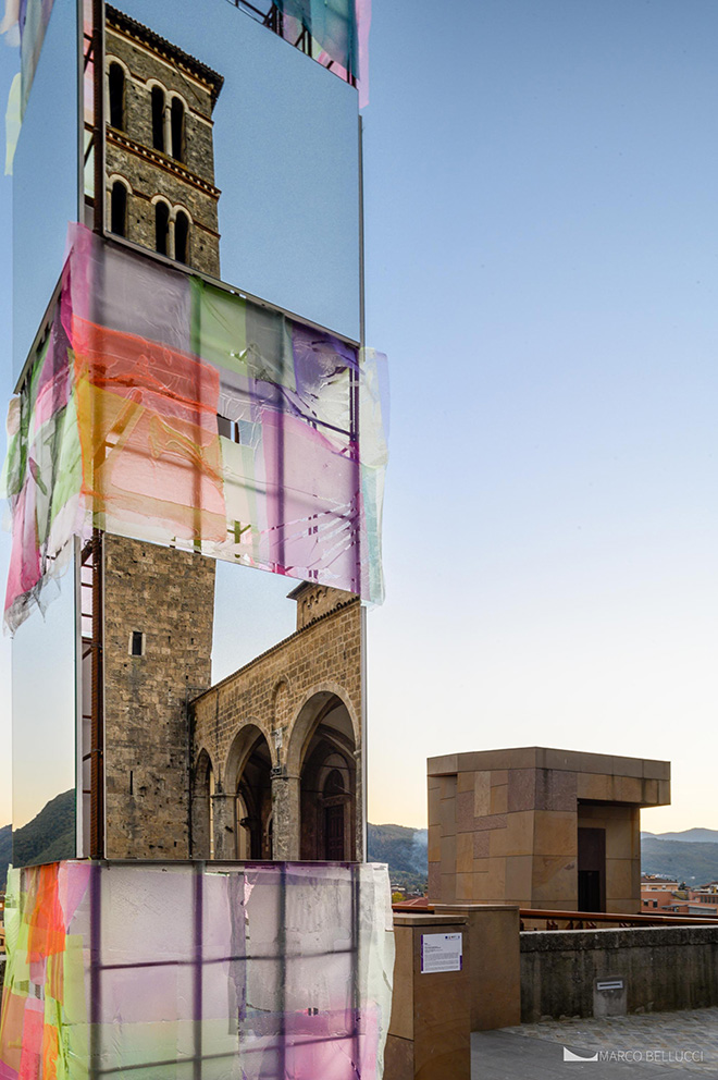 Alberonero - PILA, installazione a Rieti per TraMe-Tracce di Memoria, 2020. Foto: Marco Bellucci