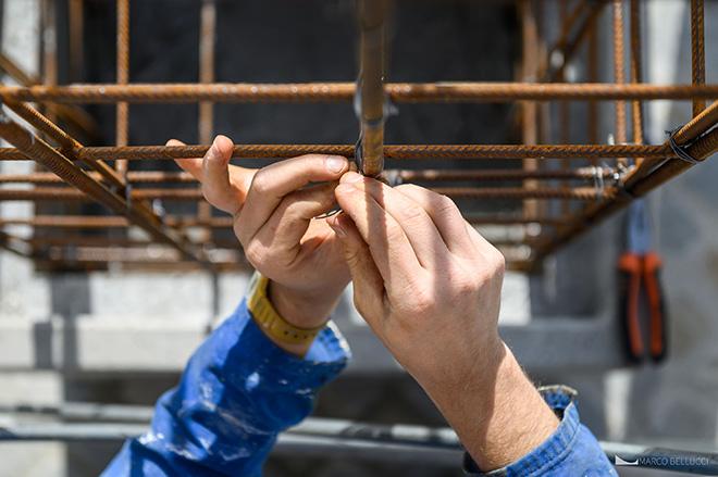 Alberonero - work in progress PILA, installazione a Rieti per TraMe-Tracce di Memoria, 2020. Foto: Marco Bellucci