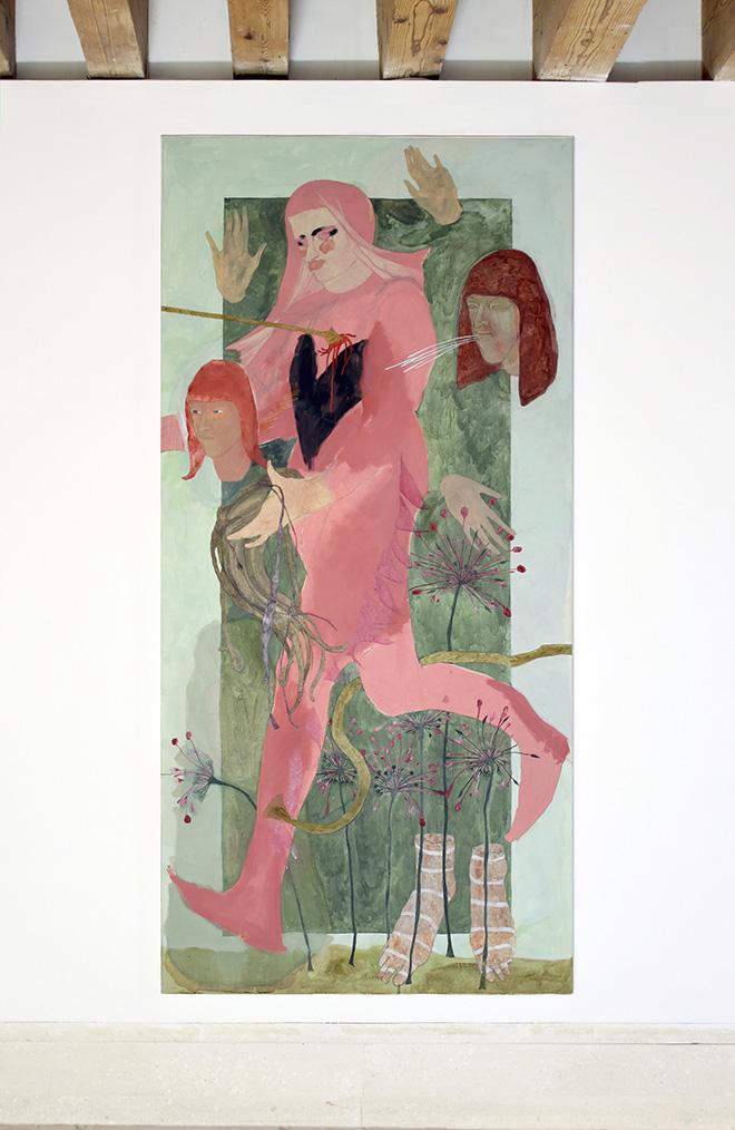 Ella Walker - He seems made of stone, 2020, acrylic on canvas, 100 x 210 cm