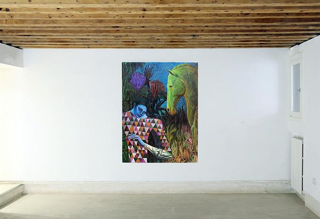 Luca de Angelis - Untitled, 2020, oil on linen, 170 x 130