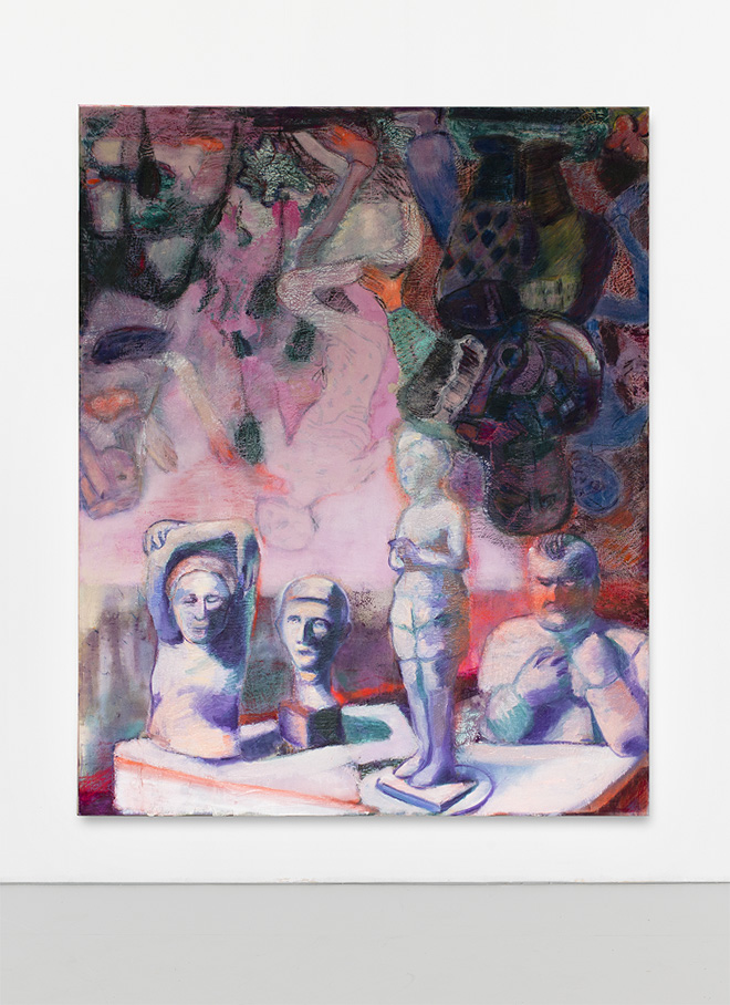 Paola Angelini - Danza Macabra a testa in giù, Danse Macabre standing on the head, 160 x 200 cm, Mixed media on canvas, 2020