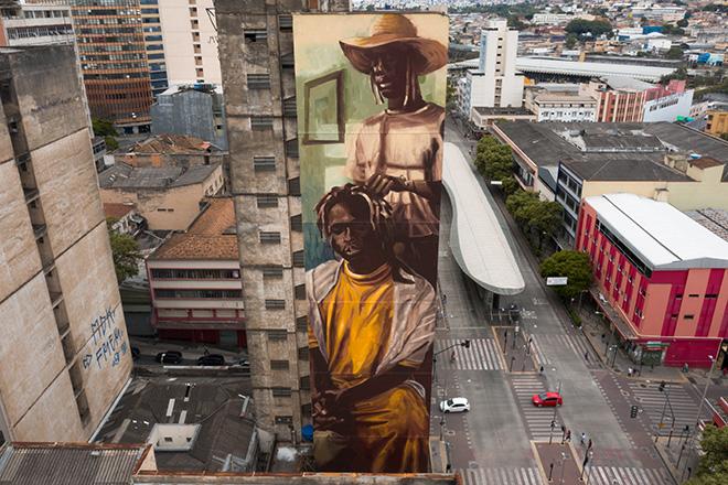 Diego Mouro - Mural for CURA - Urban Art Circuit, Belo Horizonte (Brazil). photo credit: Caio Flavio