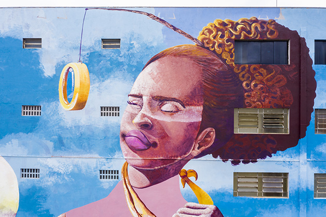 Lidia Viber - Mural for CURA - Urban Art Circuit, Belo Horizonte (Brazil). photo credit: Caio Flavio
