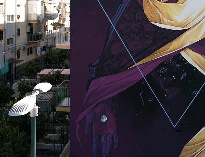 INTI - Polvere di stelle, murale a Napoli (Quartiere Barra), 2020