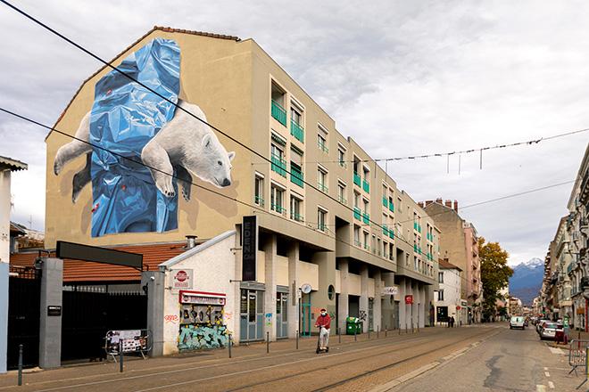 Nevercrew - Collapse, Cours Berriat 122, Grenoble. Grenoble Street Art Fest, 2020