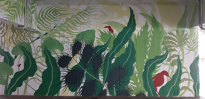 Gola Hundun - Canto d'Antro, (parete con tucano e kiwi). Progetto Another World, ASL, via Dina Galli 8, Roma. Photo credit: SG