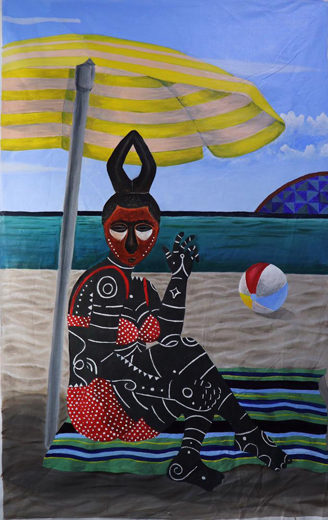 Kelechi Charles Nwaneri - The Tourist at the beach, 2020, AKKA project