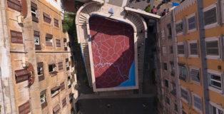 Andreco x Art Stop Monti - Dove Aniene e Tevere si incontrano, Confluenze, murale a Roma (terrazza stazione Cavour)