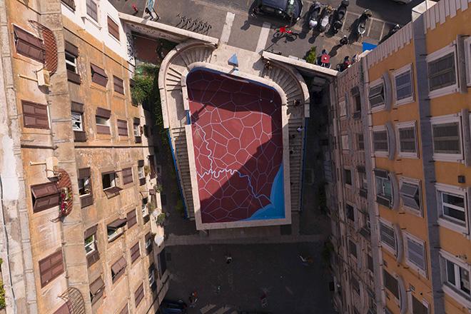"""Andreco x Art Stop Monti – """"Dove Aniene e Tevere si incontrano, Confluenze"""""""