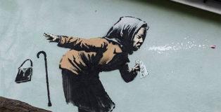 Banksy - Aachoo!!, Stencil in Totterdown, Bristol, 2020