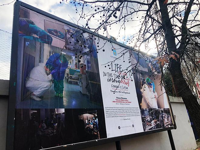 Life in the Time of Coronavirus - Latina: installazioni pubbliche open air per raccontare il lockdown nel mondo