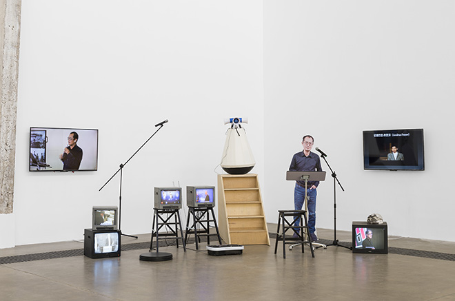 QIU ZHIJIE (LECTURES), Galleria Continua, Beijing. A Lecture about Lectures, Lecture No.1 and 10, 2020. Courtesy: the artist and GALLERIA CONTINUA Photo by: Dong Lin