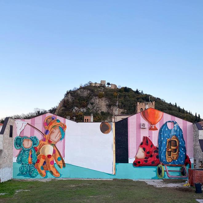 Tony Gallo - Oltre la porta, i tuoi desideri, murale a Monselice (PD), Italy