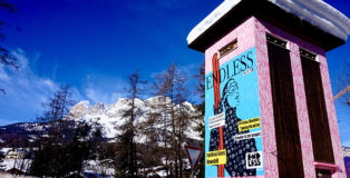 Endless - Powder To The People, Cortina d'Ampezzo, Ski World Cup, 2021, Cris Contini Contemporary Art Gallery