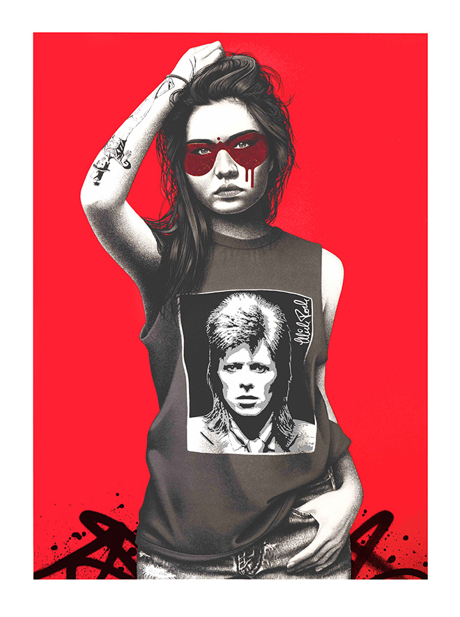 Hunky Dory -  © Fin DAC/MIDARO/West-contemporary-editions.com. Mick Rock 2021