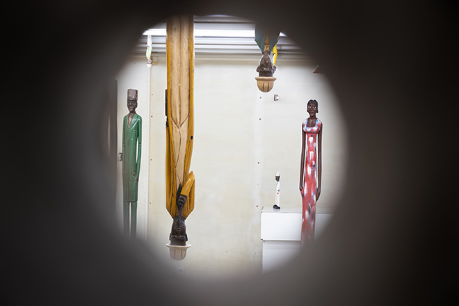 Shanghai Colonial - Pascale Marthine Tayou, 2019, sculture in legno dimensioni variabili, 2019, wooden sculptures variable dimensions. Courtesy: the artist and GALLERIA CONTINUA Photo by: Sara De Santis.