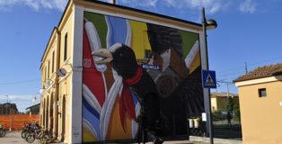 Alessio Bolognesi - La Folaga partigiana, Molinella (BO), ARTU street art festival 2020