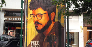 Free Patrick Zaki, prisoner of conscience - Poster For Tomorrow 2021, installation view, Lecce (Piazza Mazzini)