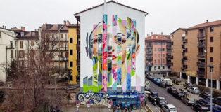 Orticanoodles - Murale, via Borsieri 5, quartiere Isola, Milano, 2021