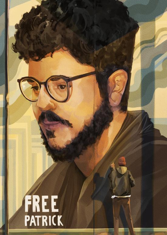 Mattia Pedrazzoli (Italia) - Free Patrick Zaki, prisoner of conscience - Poster For Tomorrow 2021