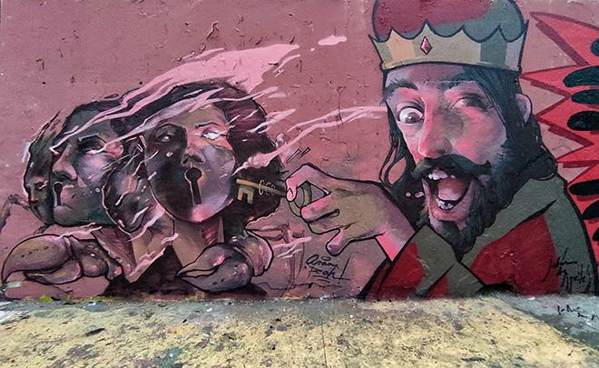 Aram Rha & Jalòn de Aquiles - Graffiti Jam a Barcellona, Parque de las Tres Chimeneas, (Libertà per Pablo Hasel). photo credit: Fer Alcalá