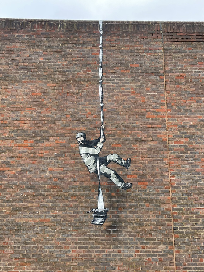 Banksy - ESCAPE, Reading Prison, England