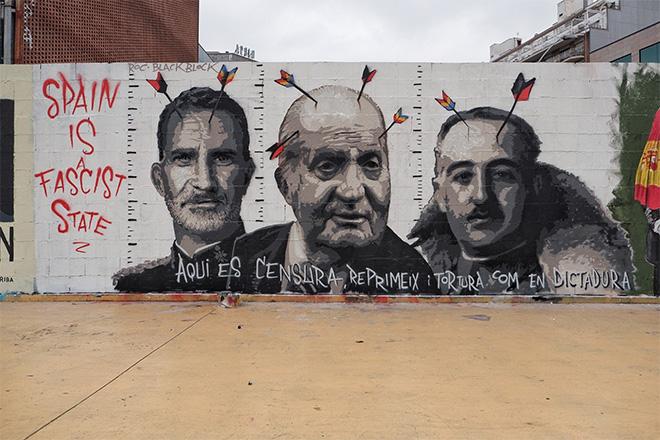 Graffiti Jam a Barcellona per sostenere la libertà di espressione