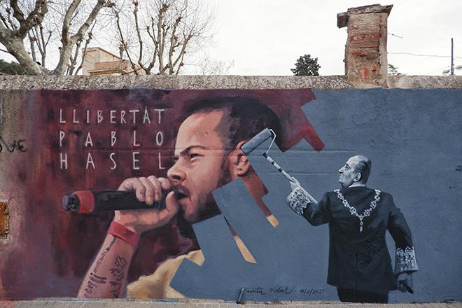 Cinta Vidal - Graffiti Jam a Barcellona, Parque de las Tres Chimeneas, (Libertà per Pablo Hasel)