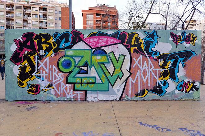El Edu - Graffiti Jam a Barcellona, Parque de las Tres Chimeneas, (Libertà per Pablo Hasel). photo credit: Fer Alcalá