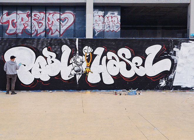 Kader - Graffiti Jam a Barcellona, Parque de las Tres Chimeneas, (Libertà per Pablo Hasel). photo credit: Fer Alcalá
