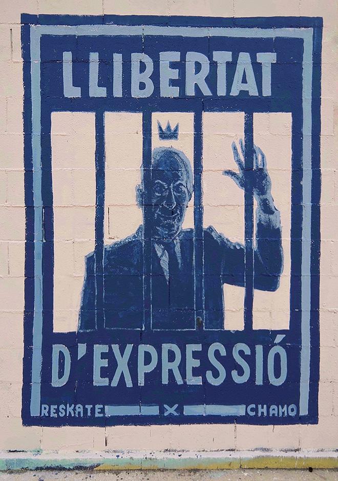 Reskate & Chamo San- Graffiti Jam a Barcellona, Parque de las Tres Chimeneas, (Libertà per Pablo Hasel). photo credit: Fer Alcalá