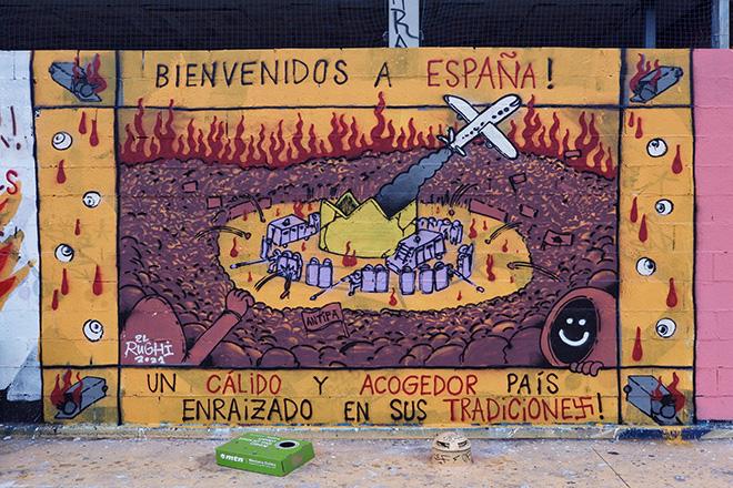 El Rughi - Graffiti Jam a Barcellona, Parque de las Tres Chimeneas, (Libertà per Pablo Hasel). photo credit: Fer Alcalá