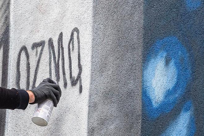 OZMO - Work in progress, Back to school, Mickey Mouse! Albisola Superiore. photo credit: Anna Spirito Fotografa in Albisola