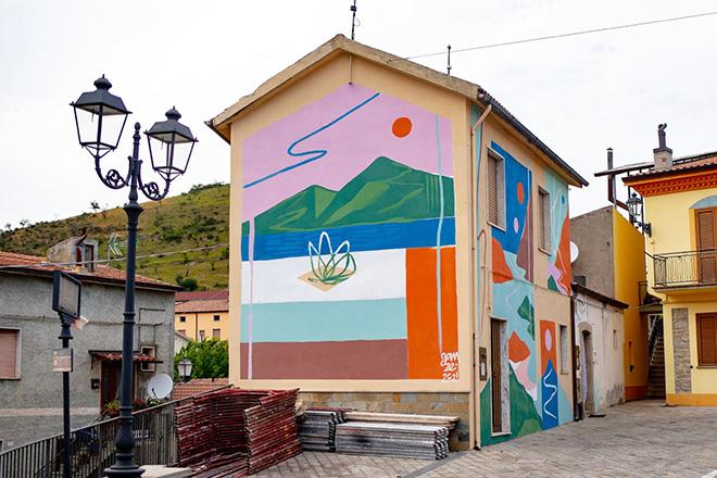 Gamze - murale a Gorgoglione (MT), ARTE CON E PER LE DONNE, AppARTEngo Festival 2021
