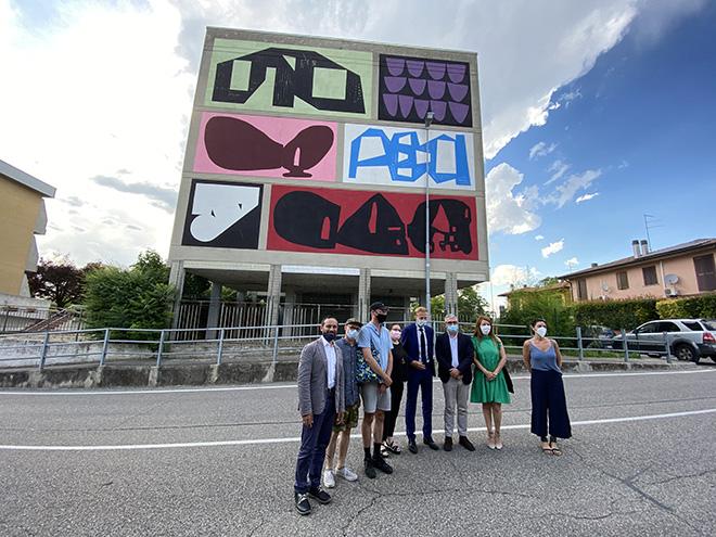 Erosie + 108 - Inaugurazione (Aperta): Combo Wall di Erosie e 108, Mantova per Without Frontiers, Lunetta a Colori, 2021