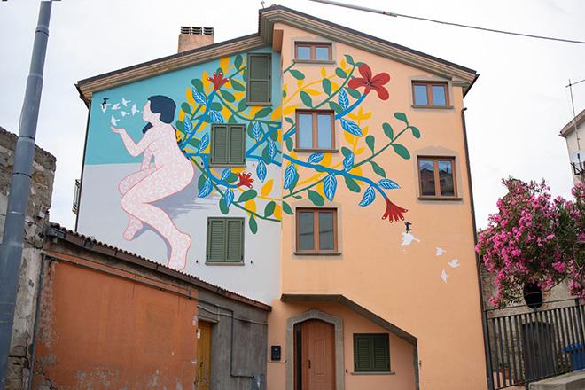 Kiki Skipi - murale a Gorgoglione (MT), ARTE CON E PER LE DONNE, AppARTEngo Festival 2021